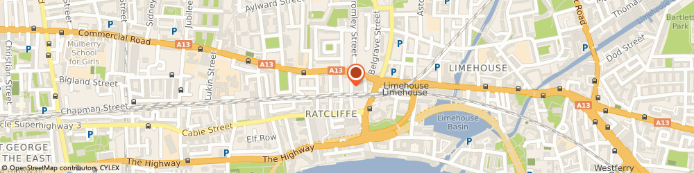 Route/map/directions to Harris and Zei, E1 0HS London, 10 - 12 Ratcliffe Cross St