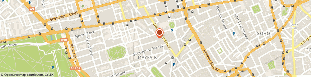 Route/map/directions to Atelier Colpani Tailoring Studio, W1K 4AP London, 14 Avery Row