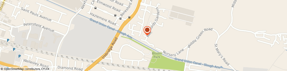 Route/map/directions to Dynx Limited, SL2 5XL Slough, 182 Rochfords Gardens