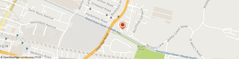 Route/map/directions to Second Rochford (Slough) Management Company Limited, SL2 5XG Slough, 571 ROCHFORD GARDENS