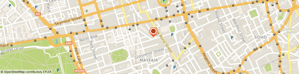 Route/map/directions to Aubade, W1K 5QD London, 4 South Molton Street