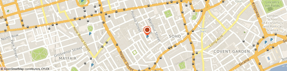 Route/map/directions to Mail Boxes Etc., W1F 0DU London, 15 Ingestre Place
