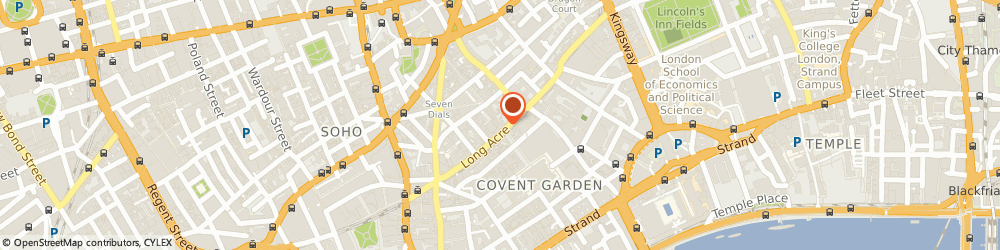 Route/map/directions to Benefit Cosmetics Brow Bar, WC2E 9NT London, 108-111 Long Acre