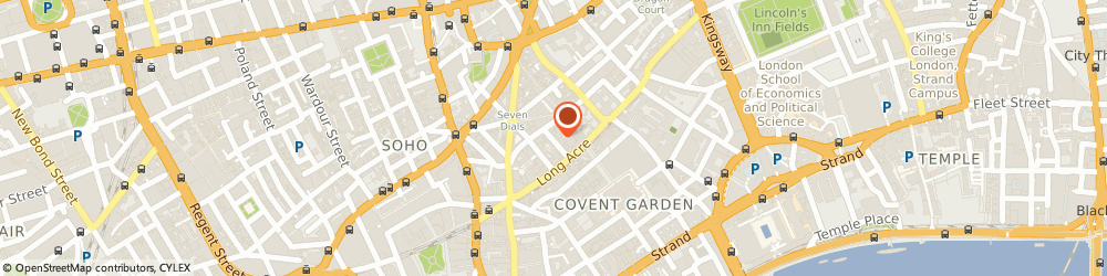 Route/map/directions to Pineapple Holdings Limited, WC2H 9JA London, 3RD FLOOR, 7 LANGLEY STREET