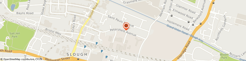 Route/map/directions to Magnet Kitchens, SL2 5DW Slough, Petersfield Avenue
