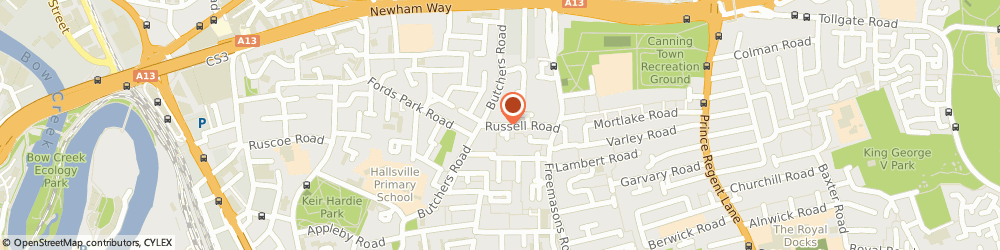 Route/map/directions to My Chauffeur London, E16 3QS London, 68 Russell Road