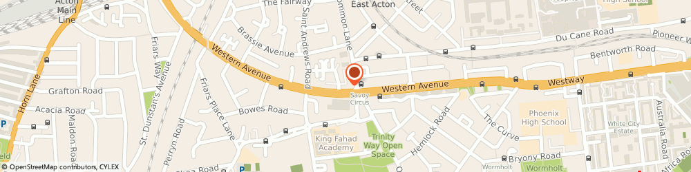Route/map/directions to Club Class Chauffeur Services Ltd., W3 7UD London, 4 Western Avenue London