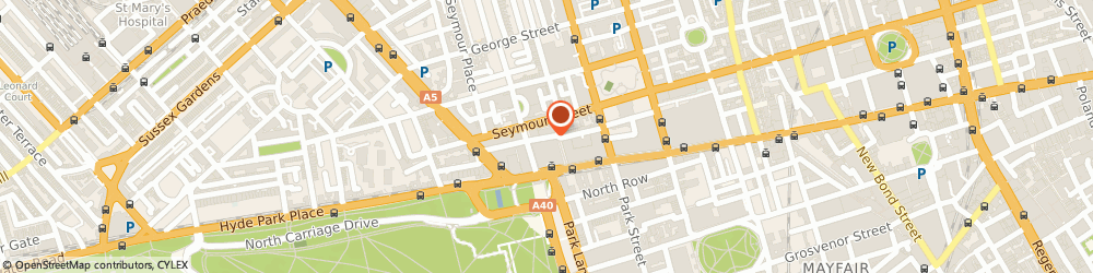 Route/map/directions to Estel Office Ltd, W1H 7AJ London, Marble Arch Tower, 55 Bryanston Street