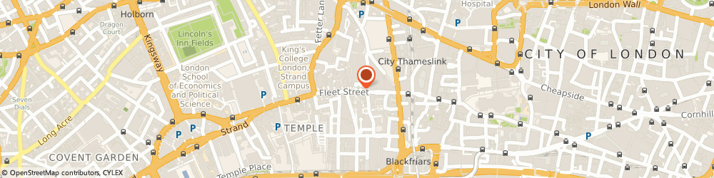 Route/map/directions to Ariel Corporate Member Limited, EC4A 2BB London, PETERBOROUGH COURT, 133 FLEET STREET