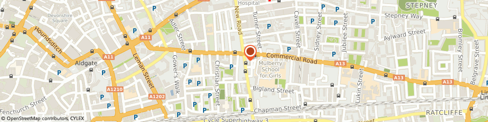 Route/map/directions to Megna Cars, E1 2LH London, 174 CANNON STREET ROAD