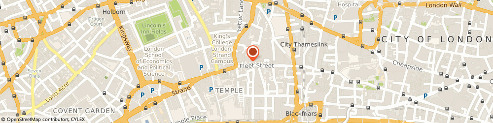 Route/map/directions to CERNO PROFESSIONAL SERVICES LIMITED, EC4A 2DY London, 165 Fleet St