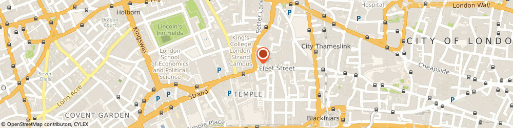 Route/map/directions to Ellis Jones Solicitors, EC4A 1BR London, 1 Fetter Lane
