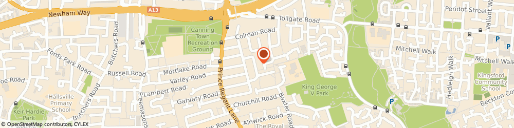 Route/map/directions to Full Gospel Tabernacle Trust, E16 3RR London, 43 Young Rd