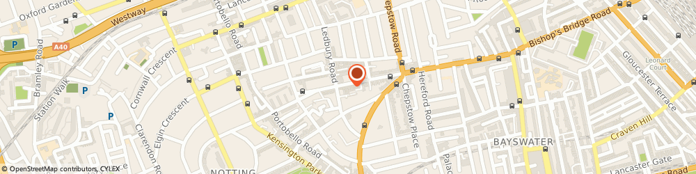 Route/map/directions to Toast, W11 2SB London, 191 WESTBOURNE GROVE