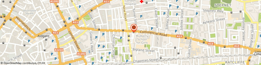 Route/map/directions to Dalco International Ltd, E1 2JY London, 166 Commercial Rd