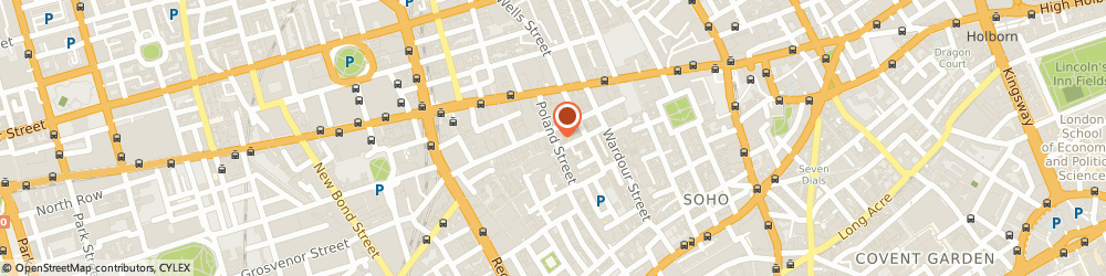 Route/map/directions to Just Skips, W1F 8QB London, 13 POLAND STREET