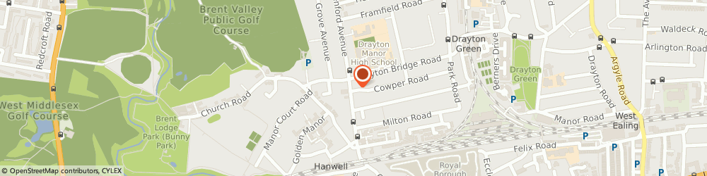 Route/map/directions to Henry Paul Funeral Directors, W7 1LJ Hanwell, 71 Greenford Avenue