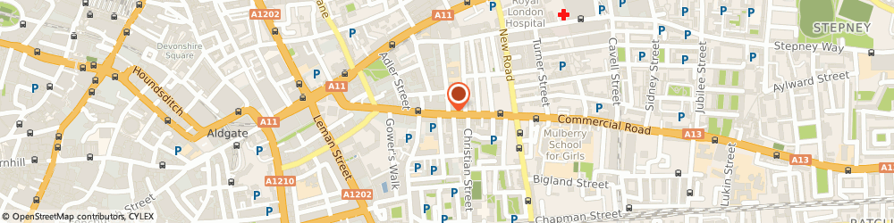 Route/map/directions to Catah, E1 1NU London, 92 Commercial Road