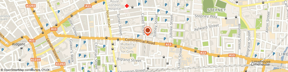 Route/map/directions to Collision Ltd, E1 2HP London, 18 CAVELL ST
