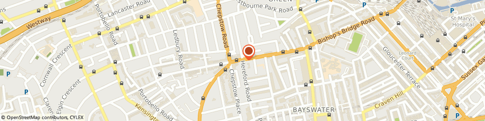 Route/map/directions to Elegance, W2 4AA London, 26 HEREFORD ROAD