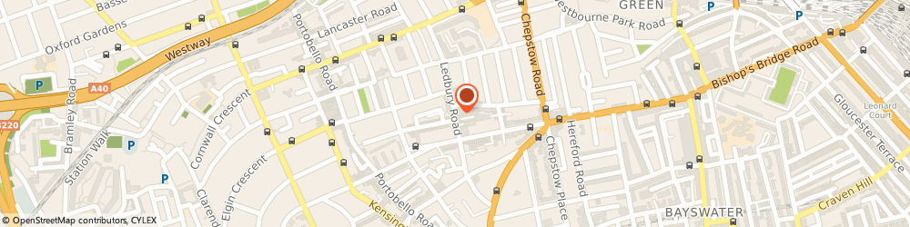 Route/map/directions to Lyon Choy, W11 2AG London, 75 Ledbury Rd