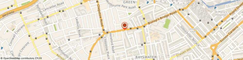 Route/map/directions to Westbourne Dry Cleaners, W2 5SH London, 68, WESTBOURNE GROVE