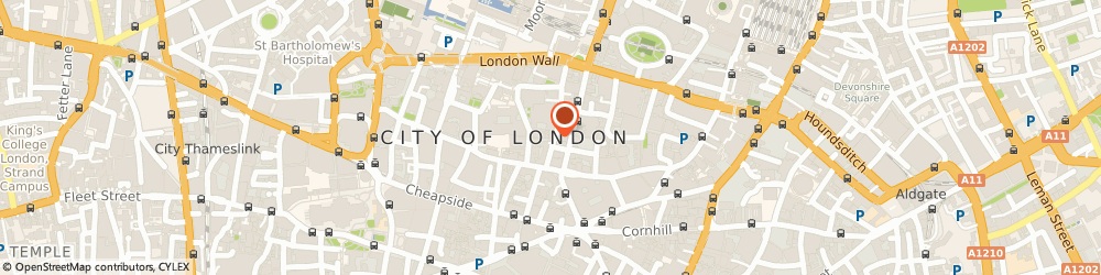 Route/map/directions to Tossed, EC2R 5AN London, 32 Coleman St