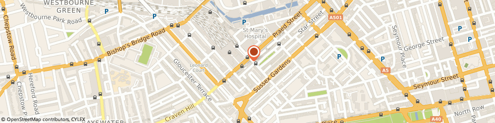Route/map/directions to Exsus UK, W2 1RH London, Enstar House, 163-173 Praed Street