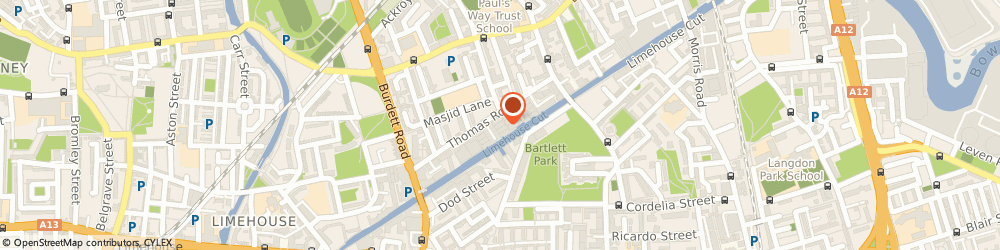 Route/map/directions to His Contracts, E14 7BN London, 2, Thomas Road Industrial Estate, Thomas Rd