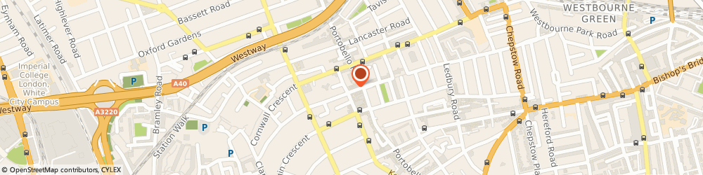 Route/map/directions to Ceramica Blue, W11 1NN London, 10 Blenheim Cres