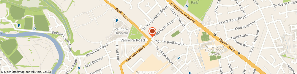Route/map/directions to LloydsPharmacy, CF14 7BQ Cardiff, 8 Park Road