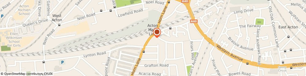Route/map/directions to Post Office Limited, W3 6PL London, 214 Horn Lane