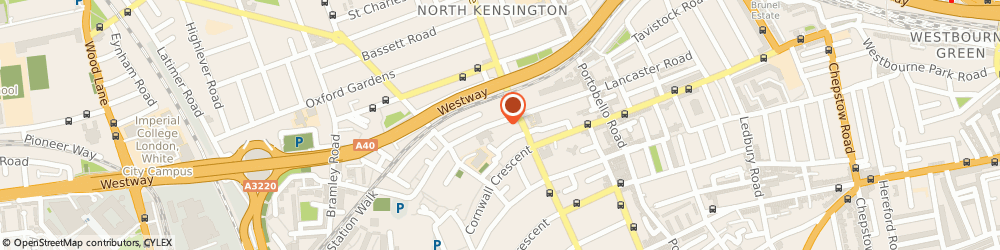 Route/map/directions to Portrait Communications, W11 1QF London, 105-109 Lancaster Road