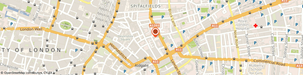Route/map/directions to Flexi Risk Solutions Limited, E1 7NY London, FLAT 11 ARCADIA COURT, 45 OLD CASTLE STREET