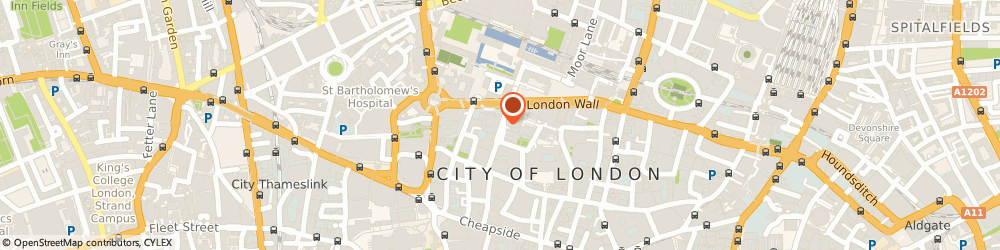Route/map/directions to Masco Ltd, EC2V 7QF London, 88 Wood Street