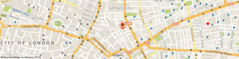 Route/map/directions to THE STEAMSHIP MUTUAL UNDERWRITING ASS..., E1 7LU London, AQUATICAL HOUSE,  39, BELL LANE