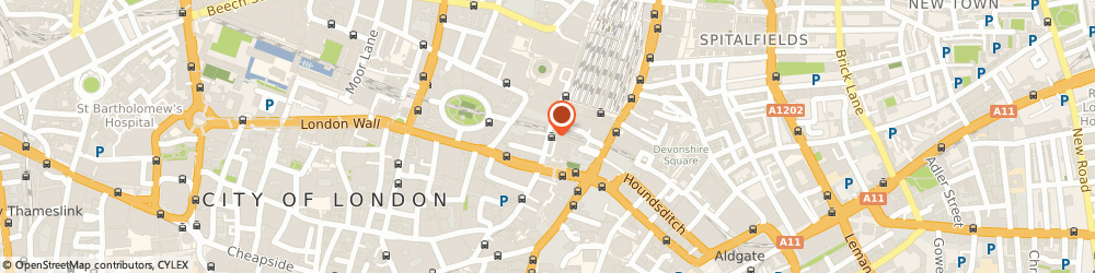 Route/map/directions to Hackett, EC2M 1RX London, 54 Old Broad St