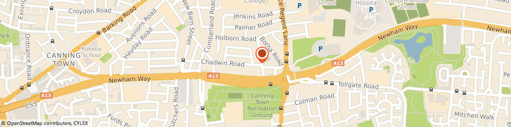 Route/map/directions to william johnston, E13 8ND London, 322 Chadwin Road