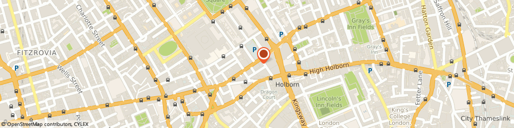 Route/map/directions to Louise Perry Weddings, WC1A 2RL London, Bloomsbury House, 2-3 Bloomsbury Square