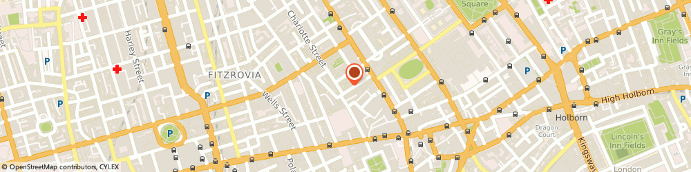 Route/map/directions to RLA Group CHRISTCHURCH, W1T 2DH London, 36 Percy Street