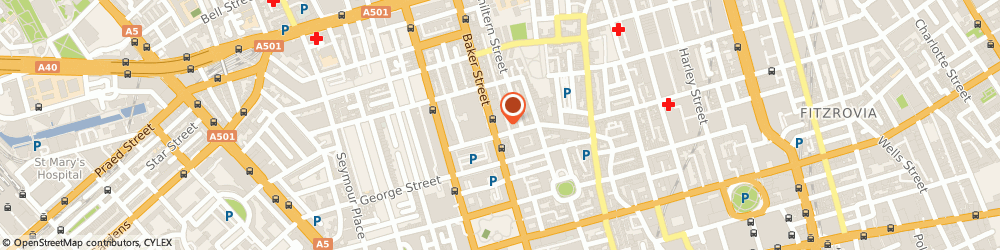 Route/map/directions to Orbex Solutions, W1U 7AL London, Accurist House, 44 Baker Street