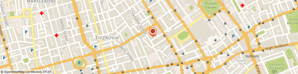 Route/map/directions to Hudsons Property, W1T 2ND London, 24 Charlotte Street