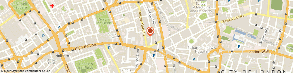 Route/map/directions to FP COMMUNICATIONS GROUP LIMITED, EC1N 8AT London, County House 14-15, Hatton Garden