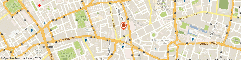 Route/map/directions to Endeavour (Europe) Limited, EC1N 6TD London, 33 Ely Place