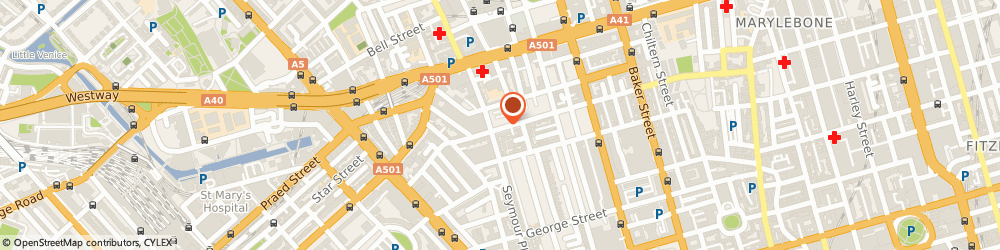 Route/map/directions to Haine & Co, W1H 1JU London, 46 Crawford St