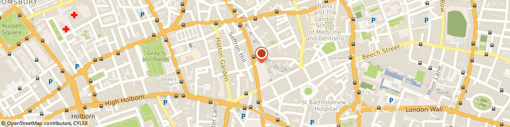 Route/map/directions to Charles Street Properties Limited, EC1M 3AP London, FARRINGDON PLACE, 20 FARRINGDON ROAD