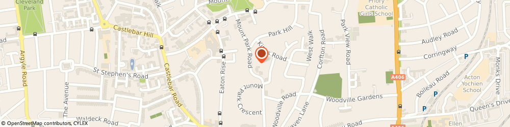 Route/map/directions to MPSYM - London Psychology, W5 2RS London, Mount Park Rd