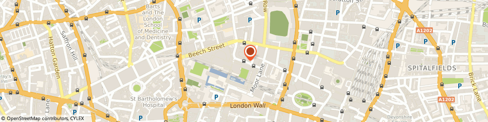 Route/map/directions to Barbican Chimes Music, EC2Y 8DS London, Silk Street
