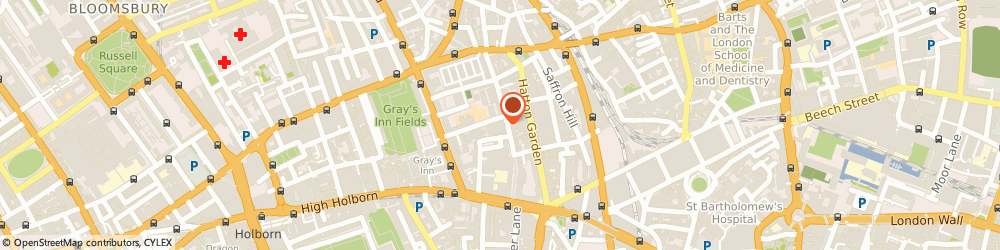 Route/map/directions to London 24 Hour Locksmiths, EC1N 7RJ London, Hatton Square Business Centre, 16-16A Baldwin'S Gardens