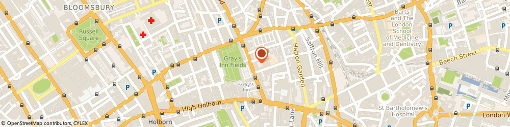 Route/map/directions to Tax Partners UK, WC1X 8AQ London, 60 Grays Inn Road